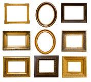 Комплект золотистых рамок Стоковые Фото