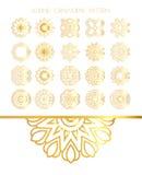 Комплект золотых круглых рамок Стоковое Изображение RF
