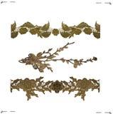 Комплект 3 золотых частей шнурка Стоковые Изображения RF