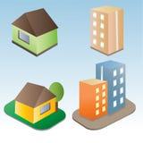 Комплект зданий вектора Стоковые Изображения RF