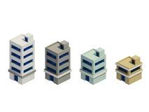 Комплект зданий представлять, расширение серии иллюстрация вектора