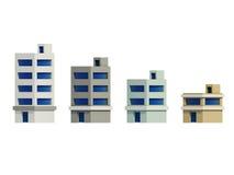 Комплект зданий представлять, расширение серии иллюстрация штока