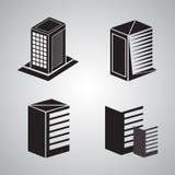 Комплект здания логотипа Стоковое Фото