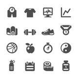 Комплект здоровых и фитнеса значка, вектор eps10 бесплатная иллюстрация