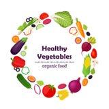 Комплект здоровых овощей, сельскохозяйственный продукт Сделанный в st шаржа плоском иллюстрация вектора
