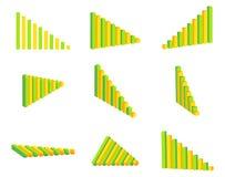 Комплект диаграммы иллюстрация штока