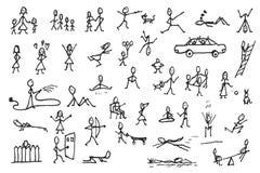 Комплект диаграмм ручки в движениях иллюстрация штока