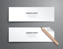 Комплект дизайна вектора шаблона знамени План графика или вебсайта Стоковое Фото