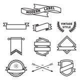 Комплект дизайна вектора ярлыка и значка значка Стоковая Фотография RF