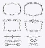 Комплект дизайна границ рамок иллюстрация вектора