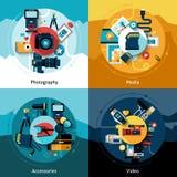 Комплект дизайна камеры иллюстрация вектора