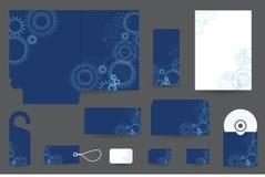 Комплект дизайна канцелярских принадлежностей Стоковое фото RF
