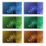 Комплект дизайна карточки Стоковые Изображения RF