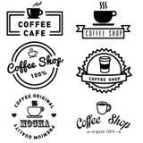 Комплект дизайна кофе знамени Стоковое Фото