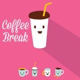 Комплект дизайна кофе знамени Стоковое фото RF