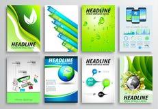 Комплект дизайна рогульки, плана Infographic Дизайны брошюры бесплатная иллюстрация