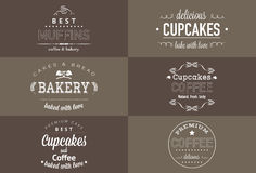 Комплект дизайна футболки хлебопекарни оформления Стоковое Изображение