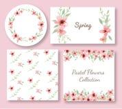 Комплект дизайна цветков и листьев Стоковое Изображение RF