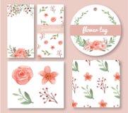 Комплект дизайна цветков и листьев Стоковое фото RF