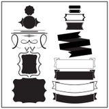 Комплект дизайна элементов винтажного Стоковое Изображение RF