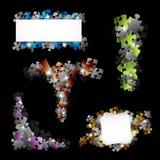 Комплект дизайнов головоломки Стоковые Изображения