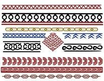 Комплект дизайнов границы Викинга Стоковые Фотографии RF
