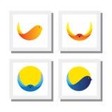 Комплект дизайнов логотипа летания птицы - vector значки Стоковые Фотографии RF