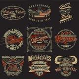 Комплект дизайнов печати футболки бесплатная иллюстрация