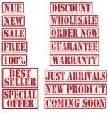 Комплект избитой фразы коммерческого продукта Grunge Стоковое Изображение