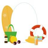 Комплект изображений вектора - аксессуары пляжа бесплатная иллюстрация