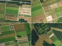 Комплект 4 изображений воздушного фотографирования Стоковое Изображение RF