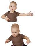 2 изображения ребенка Стоковое фото RF