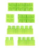 Комплект изолированных блоков конструкции игрушки Стоковая Фотография RF