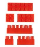 Комплект изолированных блоков конструкции игрушки Стоковые Фотографии RF