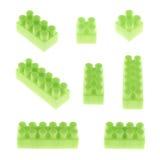 Комплект изолированных блоков конструкции игрушки Стоковые Изображения RF