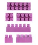 Комплект изолированных блоков конструкции игрушки Стоковое Изображение RF