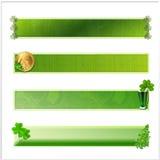 Комплект 4 изолированных знамен St. Patrick Стоковая Фотография