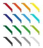Комплект изолированных красочных лент Стоковые Изображения RF