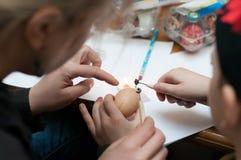 Комплект 12 изолированных пасхальных яя Стоковая Фотография RF