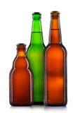 Комплект изолированных пивных бутылок Стоковые Фотографии RF