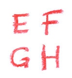 Комплект изолированных писем Стоковое фото RF
