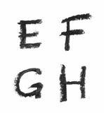 Комплект изолированных писем Стоковая Фотография RF