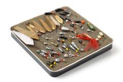 Комплект изолированных прикормов для рыбной ловли льда, Стоковое Изображение