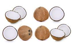 Комплект изолята изолированного кокосом на белизне Стоковые Фотографии RF