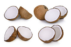 Комплект изолята изолированного кокосом на белизне Стоковые Фото