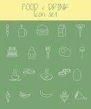 комплект иконы еды питья Стоковая Фотография RF