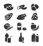 Комплект иконы еды Стоковые Изображения RF