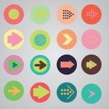 Комплект иконы знака стрелки Стоковое Фото