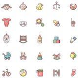 Комплект иконы младенца Стоковое Фото
