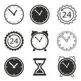 Комплект иконы часов Стоковые Фото